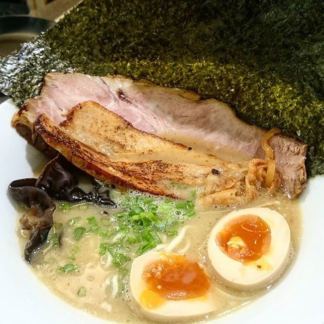 Original Tonkotsu Ramen with All Toppings ($14.90)  Came here to check out @foodinsing's recommendation!