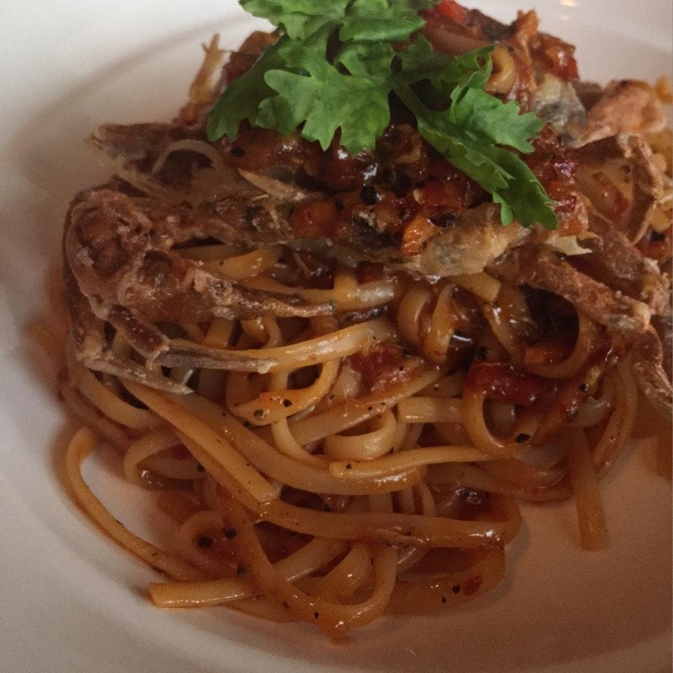 Potent Chilli Crab Pasta