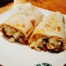 Starbucks wrap ~ no meat just vegetables.