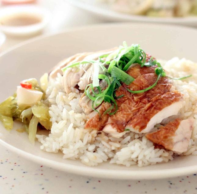 Roasted Chicken Rice ($3)