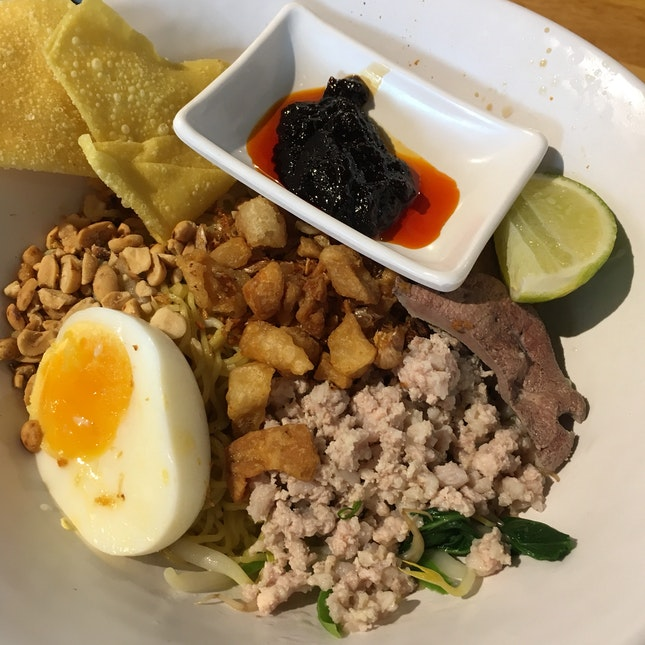 BaaMee Haeng Tom Yum Dry [$7.50]