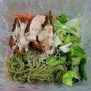 Teriyaki Chicken Soba With Salad