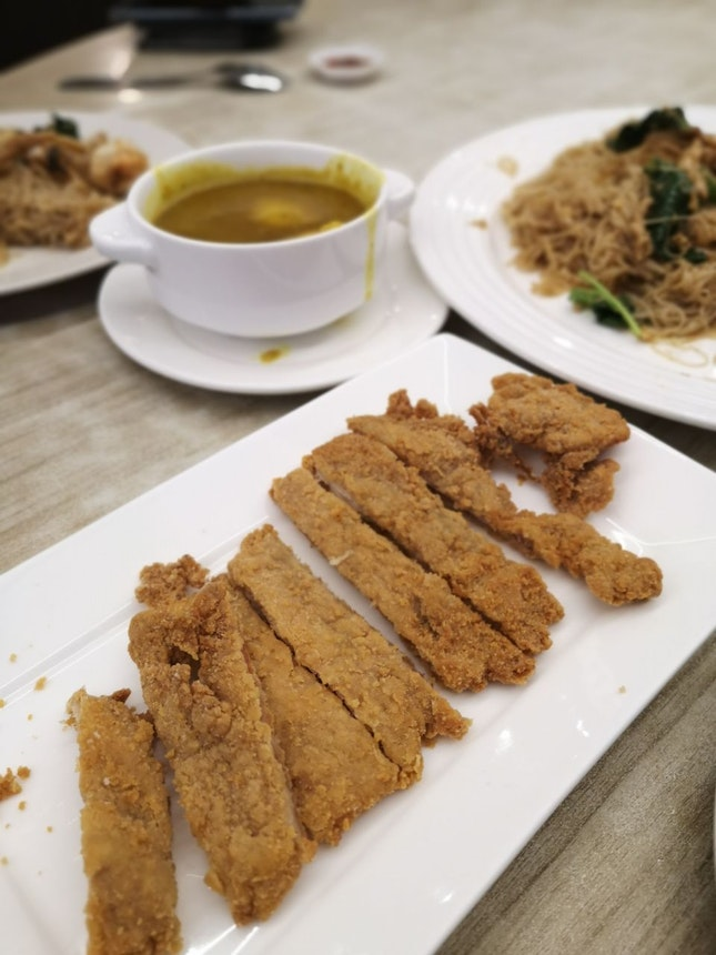 Chicken Cutlet With Curry