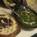Trio Mac and Cheese And Palak Paneer