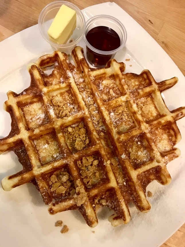 Waffles with Maple and Butter