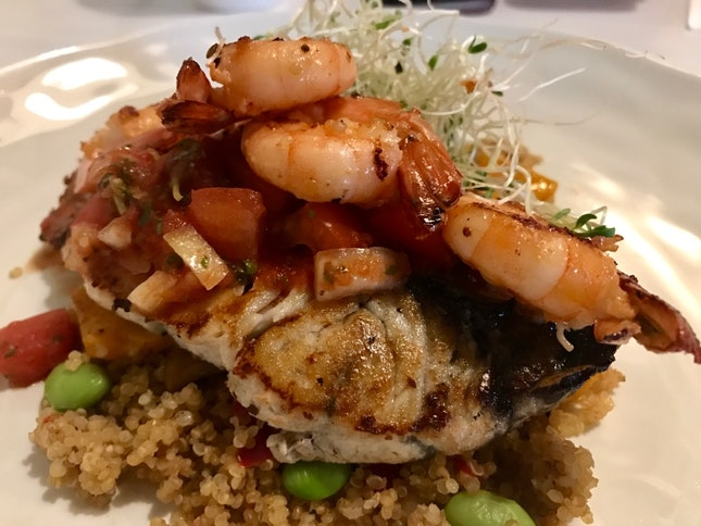 Seabass & Shrimp Quinoa
