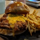 💸: $16.90 [ Salted Egg Chicken Burger ] .