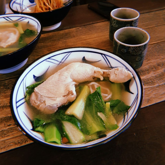 Summertime Herbal Chicken Soup With Homemade Noodles [$13.80]
