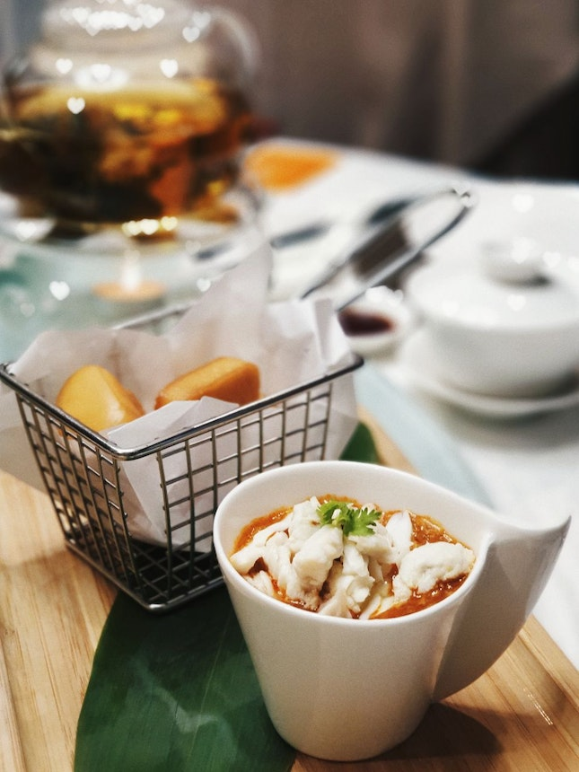 Chili Crab Meat Sauce With Sliced Mantou [$16.80]