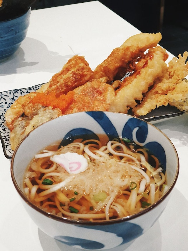 Chicken Tempura Bowl With Udon [$12.80++]
