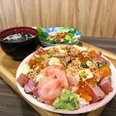 May today be filled of positive energy, as bountiful as this bowl of aburi Chirashi!