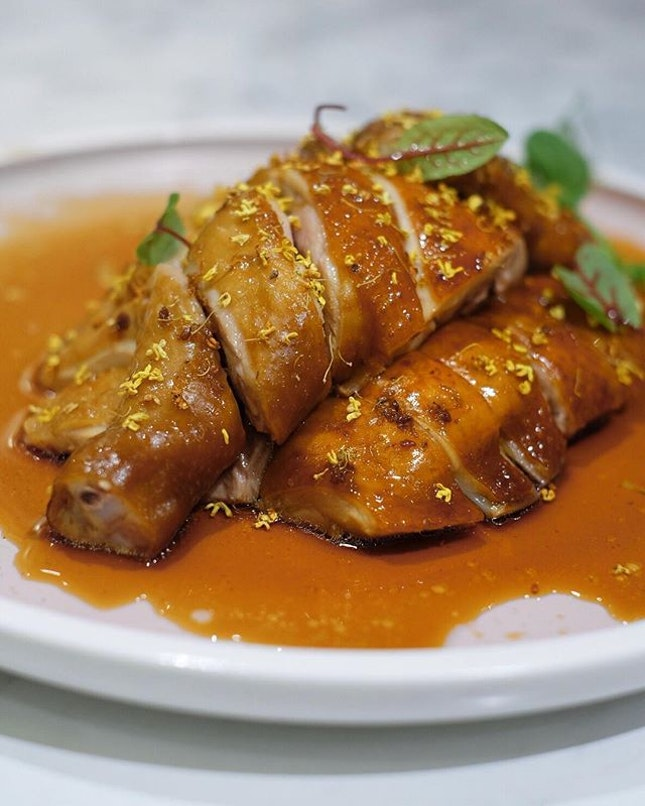 Soya sauce chicken with osmanthus [regular-$14.80], half chicken -$20.80,whole -$35] .