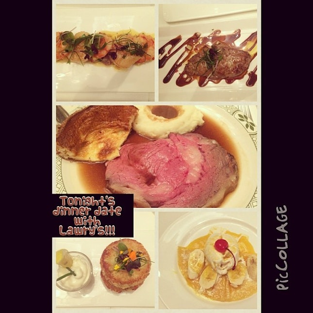 Tonight's dinner date with Lawry's!!!#primerib#yorkshirepudding#crab cakes#foiegras#scallops#crepesuzan#missingtgeoystersandprawncocktail#fatty#bom#bom#foodporn#epicurian#gourmet#asiangirl#eats#dinner#lawry'sprimerib #piccollage