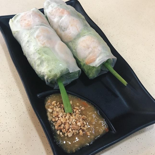 Fresh Spring Rolls ($4)