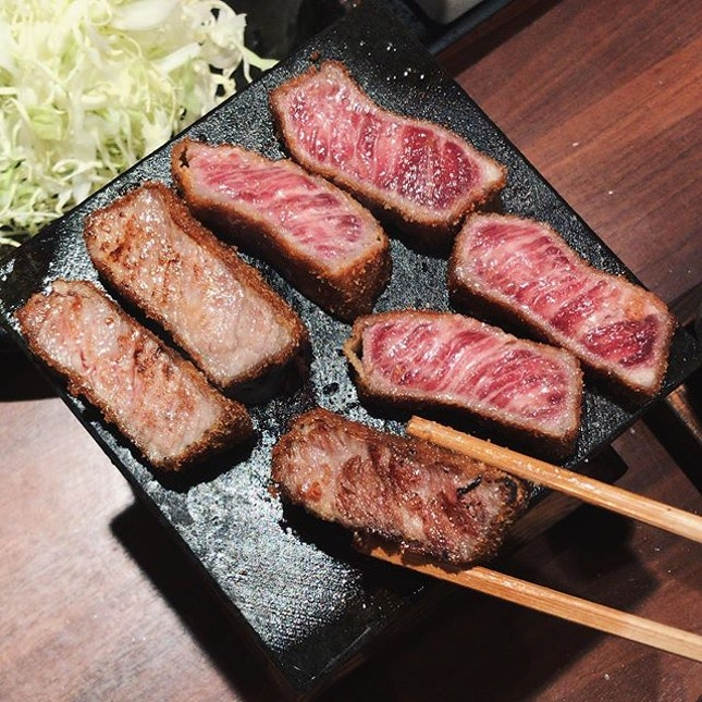pretty famous beef cutlet in tokyo!!