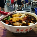 Ma Bo Lor Mee ($3.50) • VERY HUGE PORTION with two big pieces of fish.