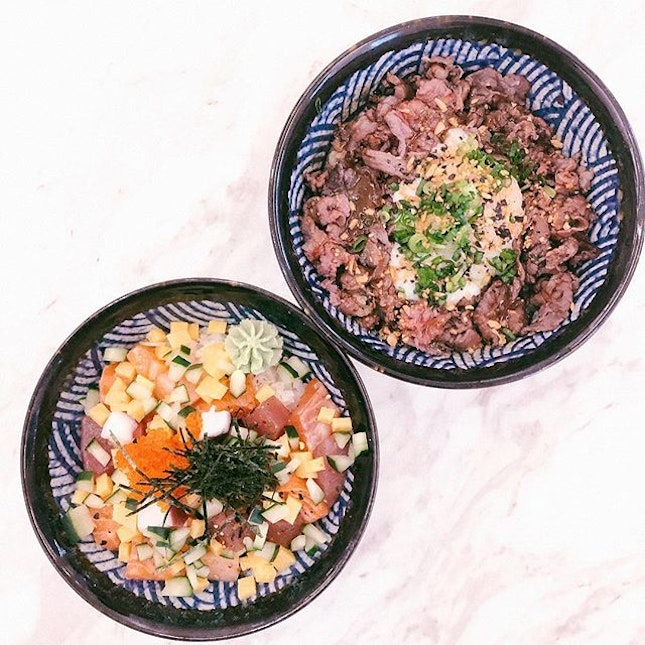 Bara Chirashi ($12.90) // Truffle Wagyu Donburi ($12.90) • The Wagyu donburi is a major steak!