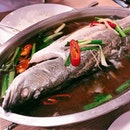 Thai style steamed grouper ($12.90) • best deal I've found so far with both sides of the fish.