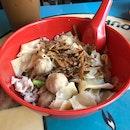 Meatball Dry Mee Hoon Kueh [$5]