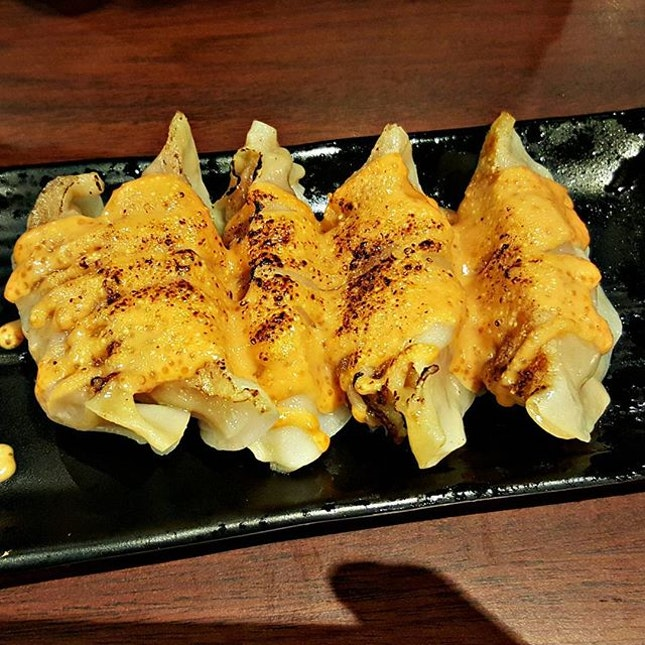 The highlight was the Gyoza topped with mentaiko!