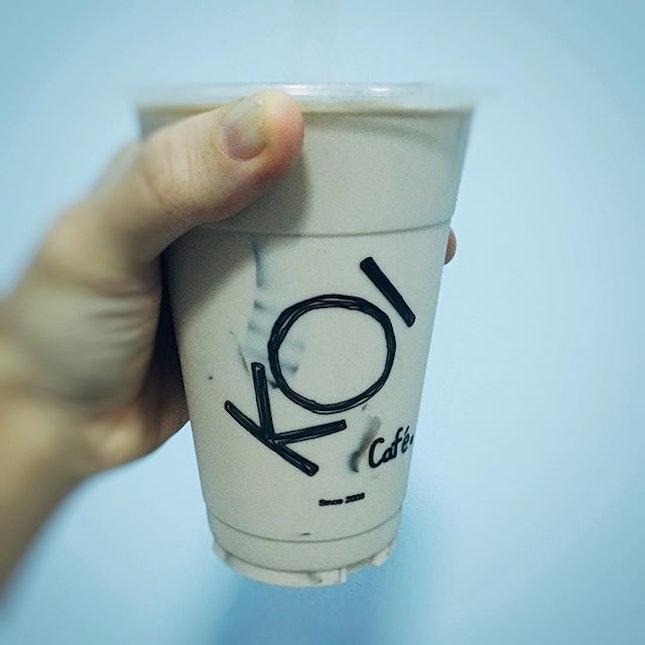 Hazelnut Milk Tea With Aiyu Jelly