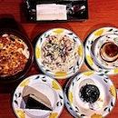 Saizeriya's Chicken Gratin Penne ($4.90), Bacon & Mushroom Risotto ($5.90), Egg & Milk Panna Cotta ($4.90), Oreo Cheesecake ($3.90) and Chocolate Lava Cake ($5.90).