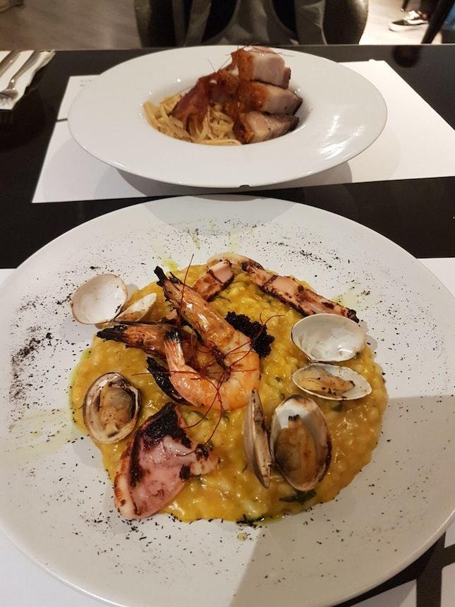 Seafood Tomyam Risotto ($26.90) and Siobak Aglio Olio ($24.90)