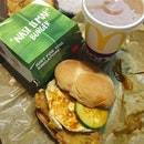 Nasi Lemak Burger Set Meal with drink & fries ($7.80) 🍔 McDonald is really getting innovative by infusing local delight.