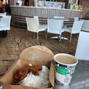 Nasi Lemak ($5.90) & Kopi Terik ($2) 😋 Love the rice, very fragrant!