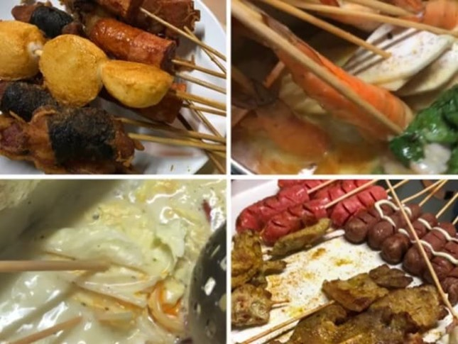 Lok Lok Buffet Dinner @ $27 😀 5 Choices of Soup Base & unlimited servings of lok lok either steamboat, deep fried or BBQ 😘 The laksa soup base is our favorite 😋 9 condiments to go with the food & the special lok lok chilli sauce is my choice 😀 Free flow drinks (lime juice & water chestnut), fruits & 8 flavors of ice cream to indulge in 😍 A good 1st time experience for us but will not really return as it was simply too sweaty & hot to eat these lok lok at a non-air conditioned open area 😅  #burpple
