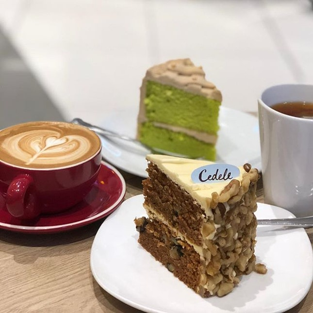 Cake Set with drink at $9.50 or add $1 for Flat White.