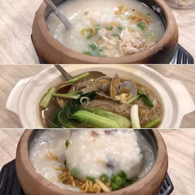 "Buy 1 Porridge Get 1 Porridge Free (with minimum purchase of a drink) Monday to Thursday (All Day), Friday (10.30am to 5pm) Limited Period Only in celebration of A-One 10th Anniversary 🎉 🥣 Our choice were Dried Scallop Porridge with Cuttlefish, Shredded Chicken & barely ""noticeable"" Crab Meat (UP $11.90) and Dried Scallop Porridge with Century Egg & Minced Meat (UP $10.90)."