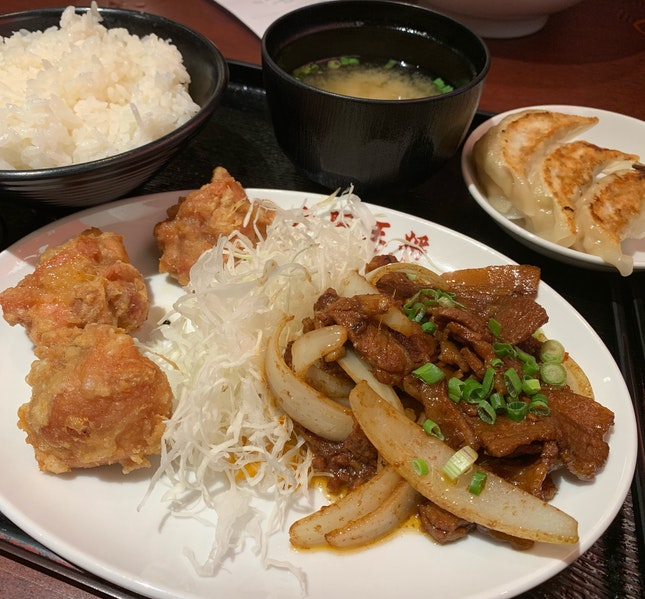 Pork Belly Miso & Fried Chicken Set ($15.90)