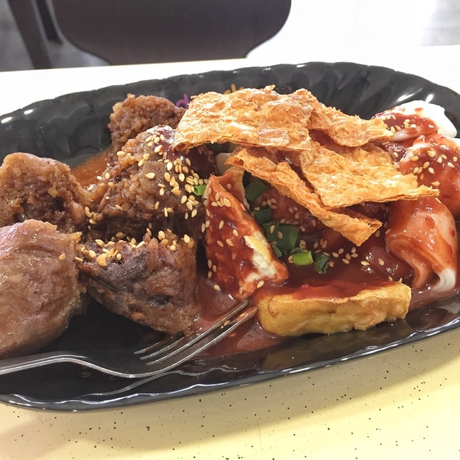 Mix — Dumpling, Chee Cheong Fun, Fried Beancurd Stuff ($3?)