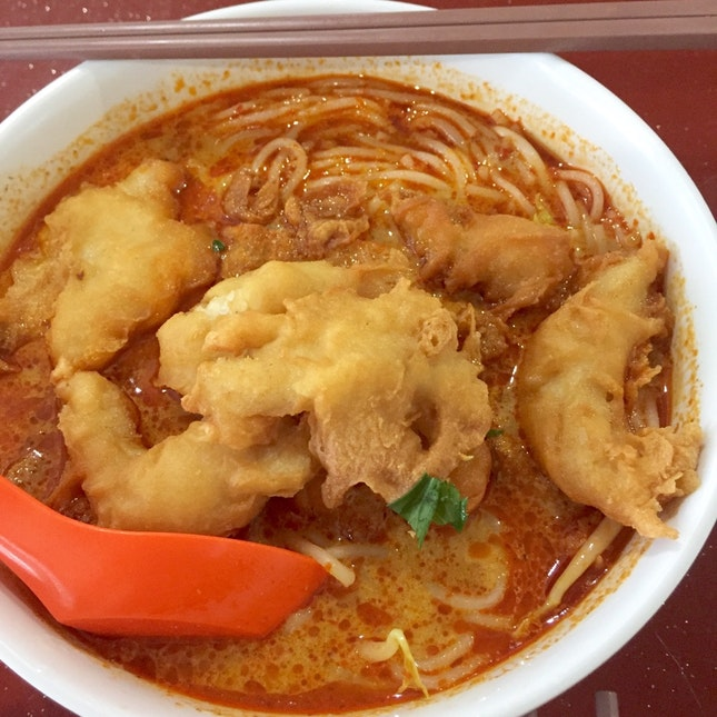 Fried Fish Laksa!!