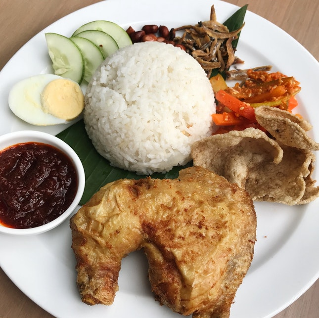 Nasi Lemak With Fried Chicken (RM18)