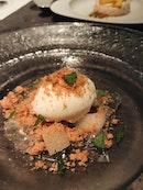 Crumble, Pear Gelee And Pear With Vanilla Ice Cream (part of Rizu Omakase)