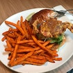 Soft shell crab burger with truffle fries 🍟.