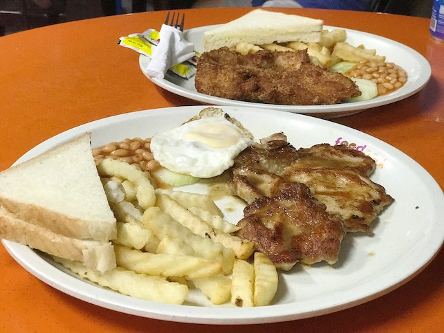 Chicken Chop With Egg