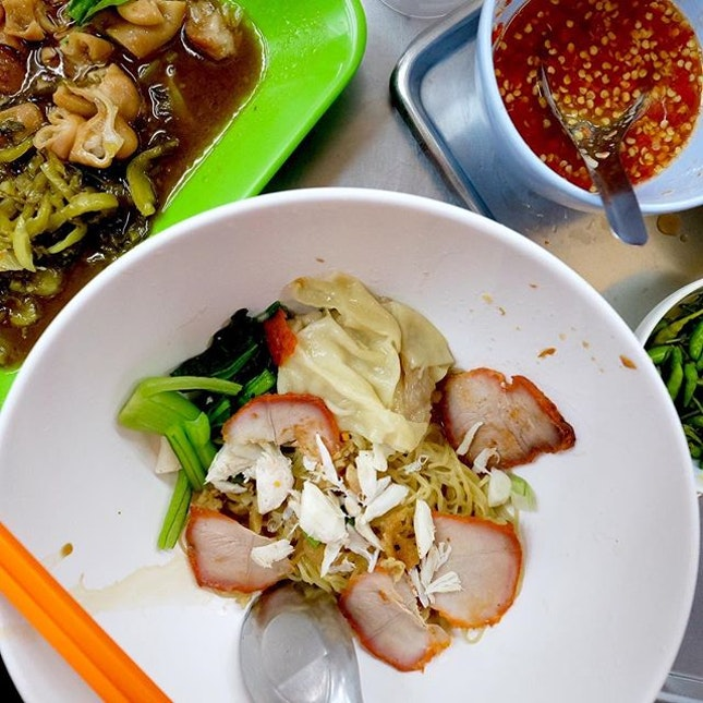 So this is the famous Bangkok wanton mee.