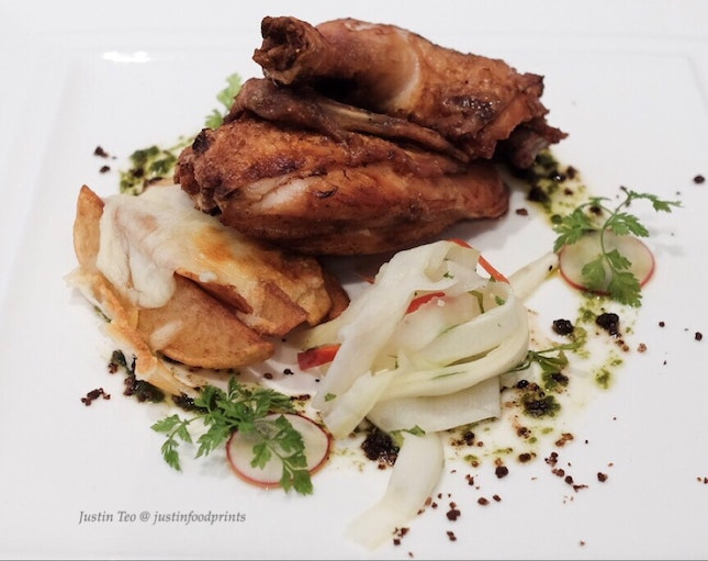 Roasted Half Spring Chicken [3 course lunch at $39+].