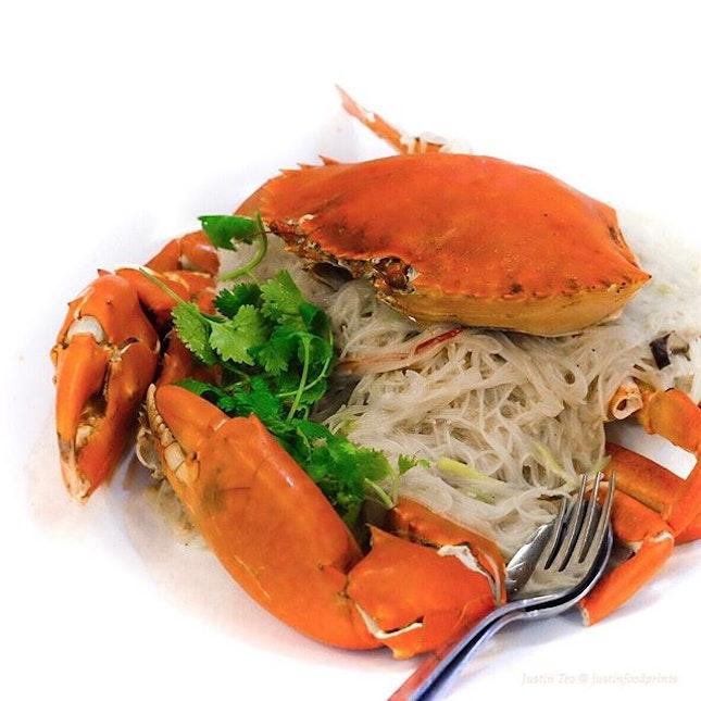 Crab Beehoon ($102 using 1.5kg crab, $68/kg).