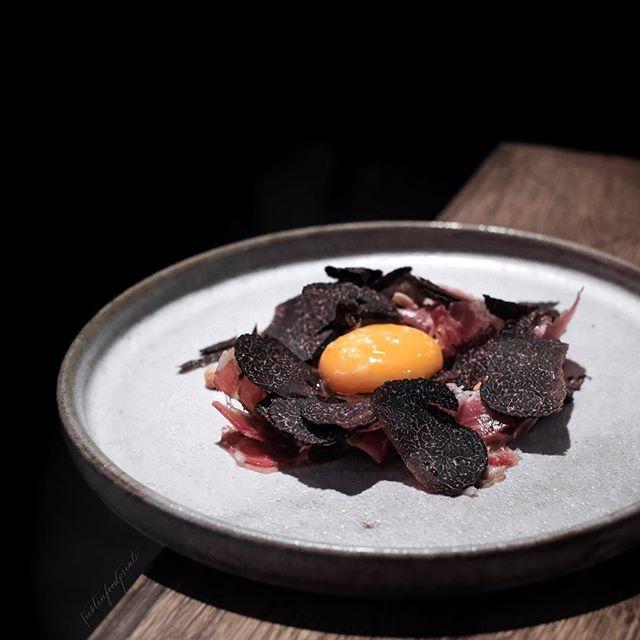 Black Truffle, Coppa and Confit Egg ($26).