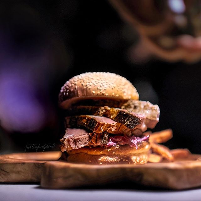[New Menu, 50% Promotion Available] Tin Hill Rangers Valley Black Angus Brisket Burger ($28.50).