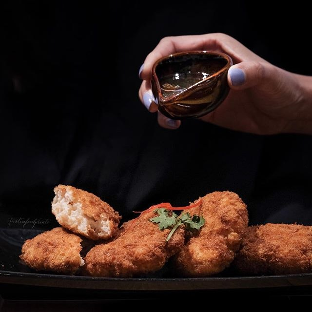 Prawn Cakes ($15, comes in 4s).