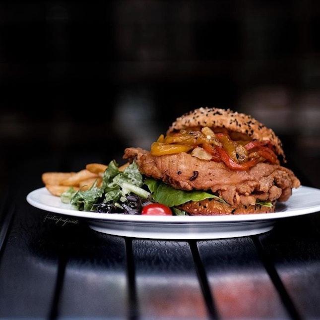 Chicken Burger ($24).
