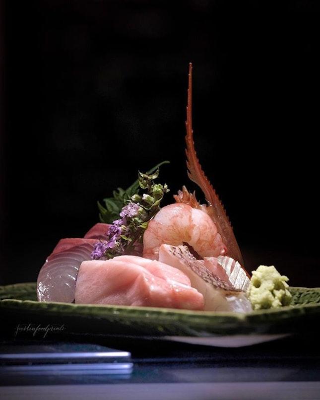 Sashimi Platter (part of $128++ omakase).