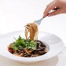 Black Pepper Seafood Pasta ($16.20).