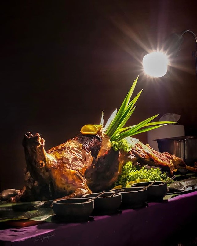 Middle Eastern Roasted Whole Baby Lamb (inclusive in buffet dinners on Fri/Sat at $82++/pax).