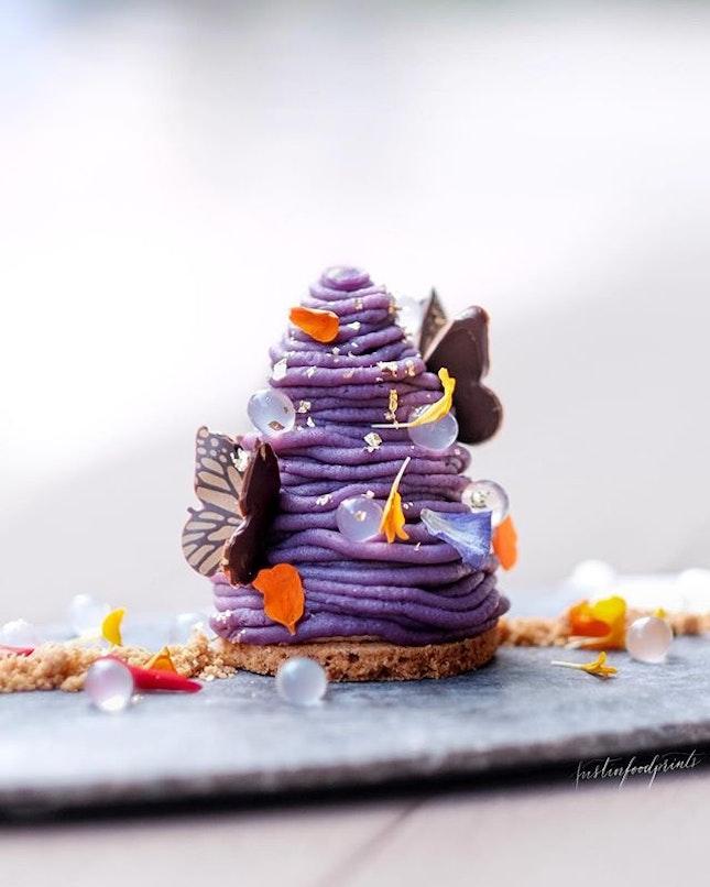 Sweet Purple Potato Montblanc ($12).